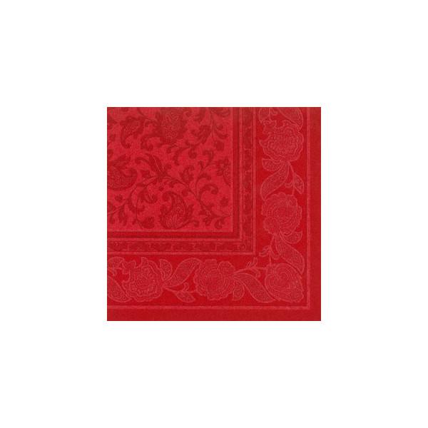 Papstar Servietten ROYAL Col.Ornaments rot 40x40cm 50St 1/4 Falz
