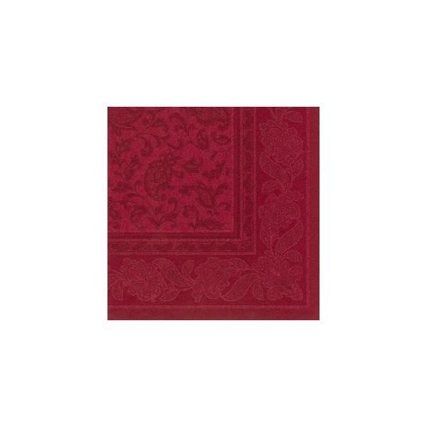 Papstar Servietten ROYAL Col.Ornaments bordeaux 40x40cm 50St 1/4 Falz