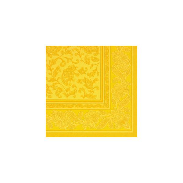 Papstar Servietten ROYAL Col.Ornaments gelb 40x40cm 50St 1/4 Falz