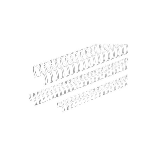Renz Drahtbinderücken Ring Wire 311430034 weiß 3:1 34 Ringe auf A4 120 Blatt 14,3mm 50 Stück