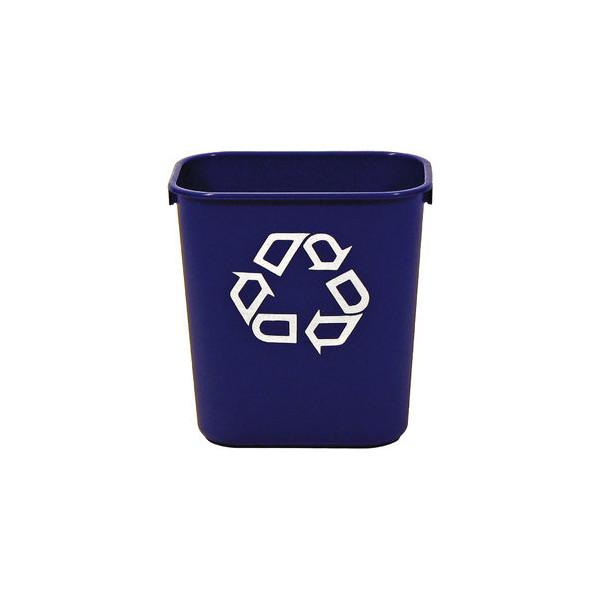 Rubbermaid Rechteckiger Papierkorb 12,9 l blau 289x210x308 12,90 L