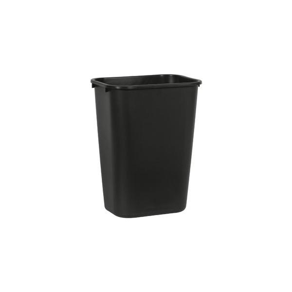 Rubbermaid Rechteckiger Papierkorb 39 l schwarz 387x279x505 39 L