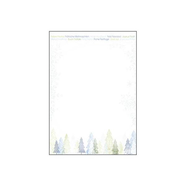 Sigel Weihnachtspapier Trees A4 25 Blatt DP090