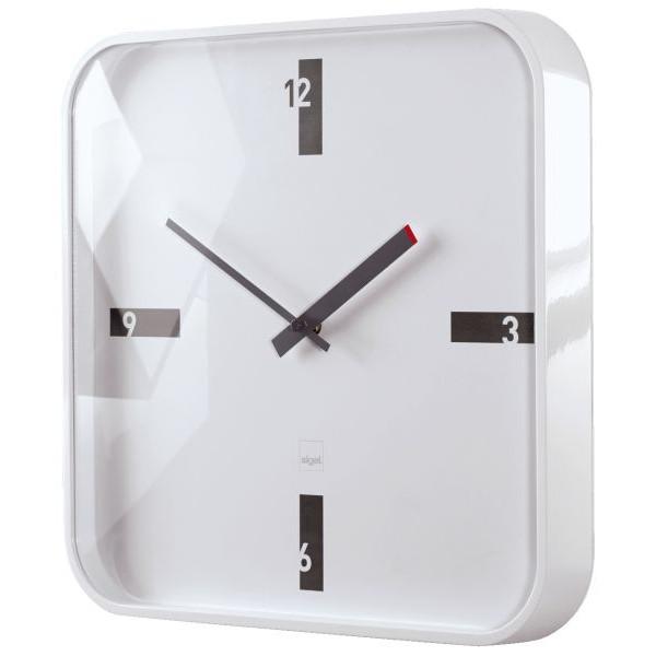Sigel Design-Wanduhr artetempus® Modell: mezo, white, geräuschloses