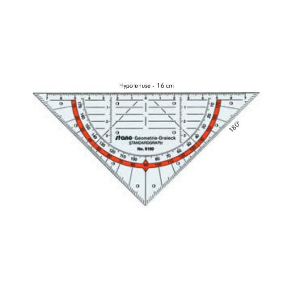 Standardgraph Geo-Dreieck transp. 160mm