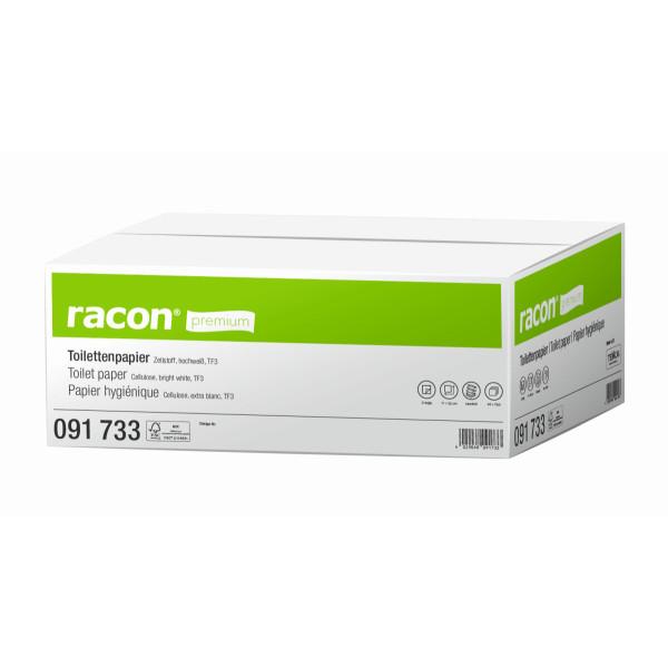 Temca Toilettenpapier racon premium 091733 2-lagig 250 Einzelblatt