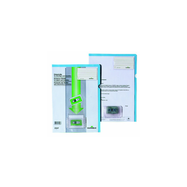 Durable 2347 Diktathülle A4 transparent blau
