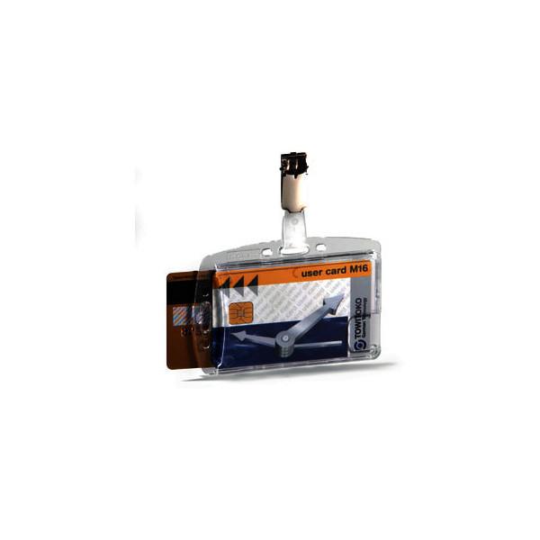 Durable Ausweishalter mit drehbarem Clip f.2 Ausweise 25 St