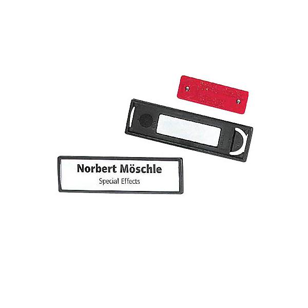 Durable Namensschild mit Magnet schwarz 17 x 67mm 25 St