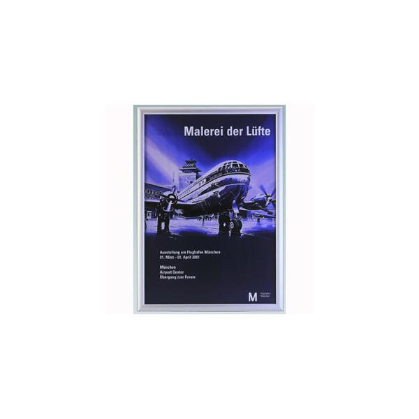 Plakat-Klapprahmen 05.11 silber A1 mit Antireflexfolie