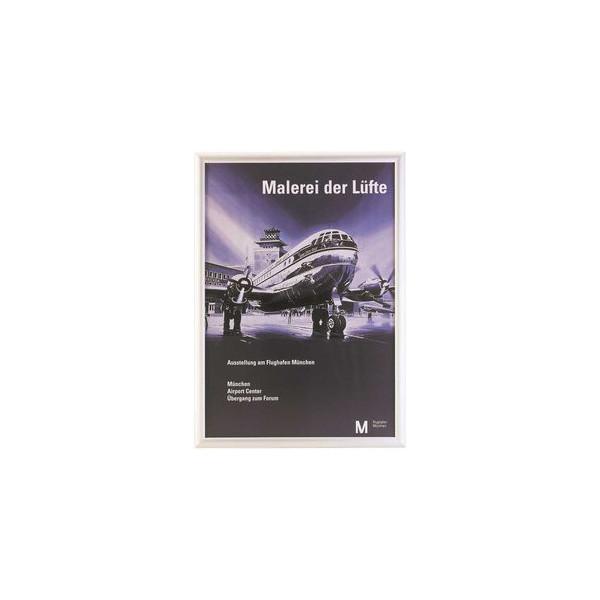 Plakat-Klapprahmen 05.11 silber A3 mit Antireflexfolie