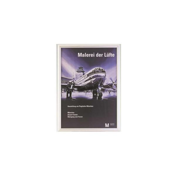 Plakat-Klapprahmen 05.11 silber A4 mit Antireflexfolie