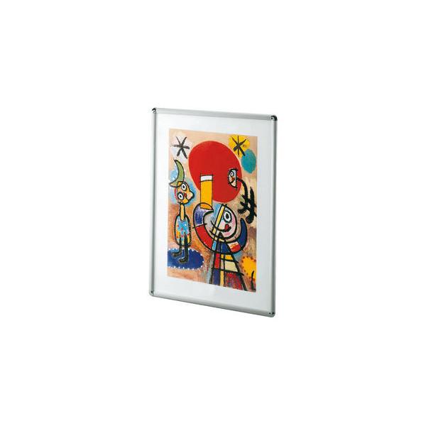 Plakat-Klapprahmen 05.13 silber A4 mit Antireflexfolie