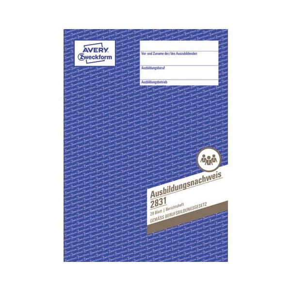 Zweckform Ausbildungsnachweis für die Berufs- ausbildung A4, 28 Blatt, 1 Woche je
