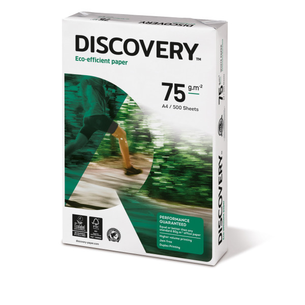 Discovery A4 75g 2-fach gelocht Kopierpapier weiss 500 Blatt