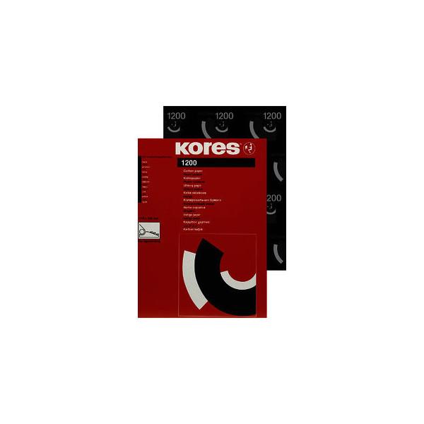 Kores Kohlepapier 1200 A4 schwarz für Schreibmaschinen 100 Blatt