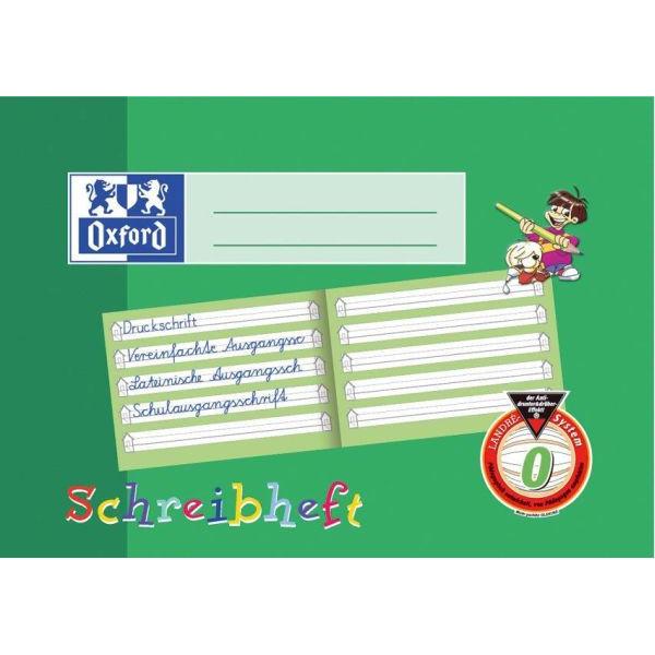 Oxford Schreiblernheft A5 quer Lineatur 0 liniert mit Schreiblernhaus weiß 16 Blatt