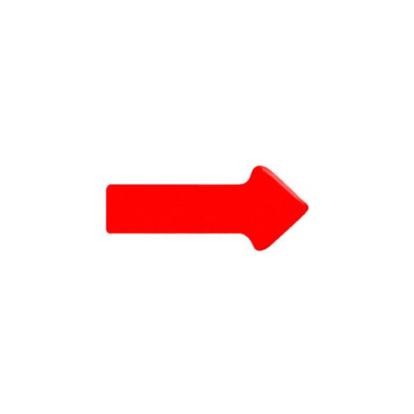 Legamaster Magnetsymbole 20 x 35 x 1,7mm rot 12 Stück