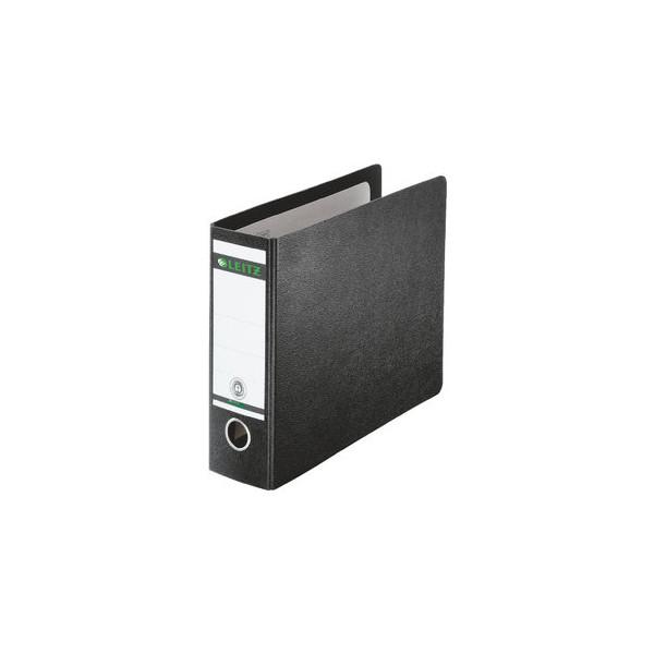 Leitz Ordner 1071 1/6-DIN 77mm schwarz Recycling mit Griffloch