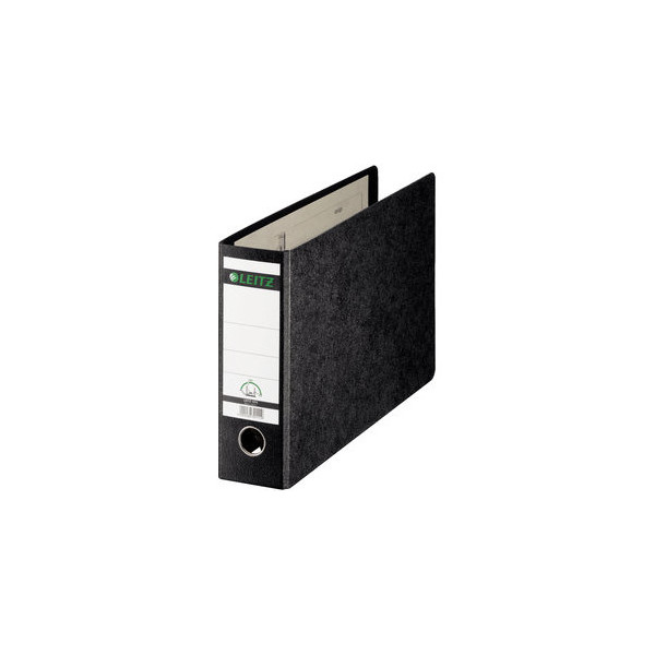 Leitz Ordner 1074 A4-quer 77mm schwarz Recycling mit Griffloch