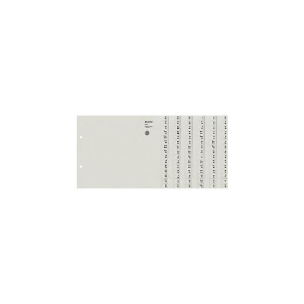Leitz Kartonregister 1308-00-85 A-Z A4 halbe Höhe 100g graue Taben für 8 Ordner 20-teilig