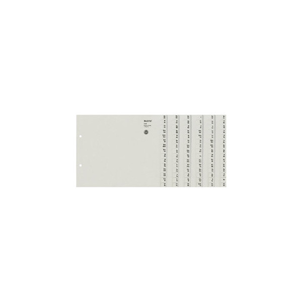 Leitz Kartonregister 1308 A-Z A4 halbe Höhe 100g graue Taben für 8 Ordner 20-teilig
