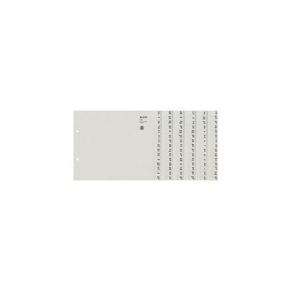 Leitz Kartonregister 1324-00-85 A-Z A4 halbe Höhe 100g graue Taben für 24 Ordner 20-teilig