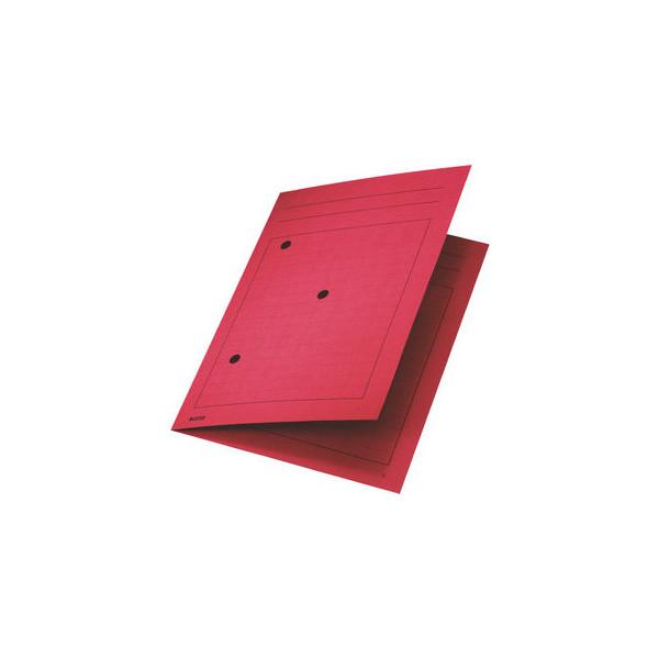 Leitz Umlaufmappe 3998 A4 320g Karton rot mit 3 Sichtlöchern