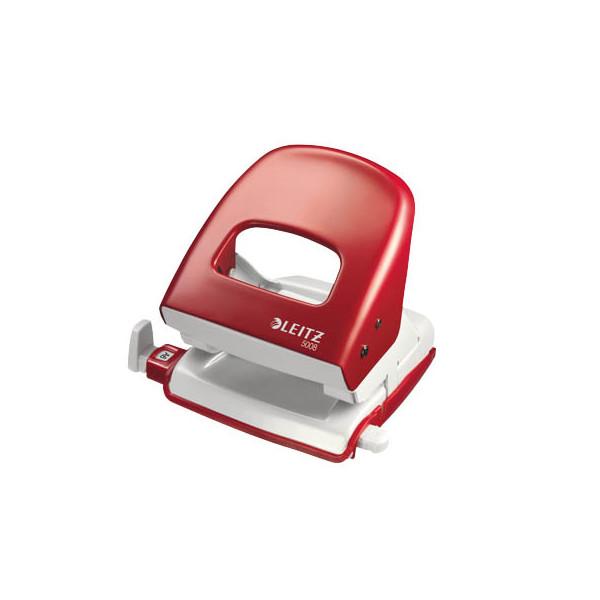 Leitz Locher 5008 rot 3mm 30 Blatt mit Anschlagschiene