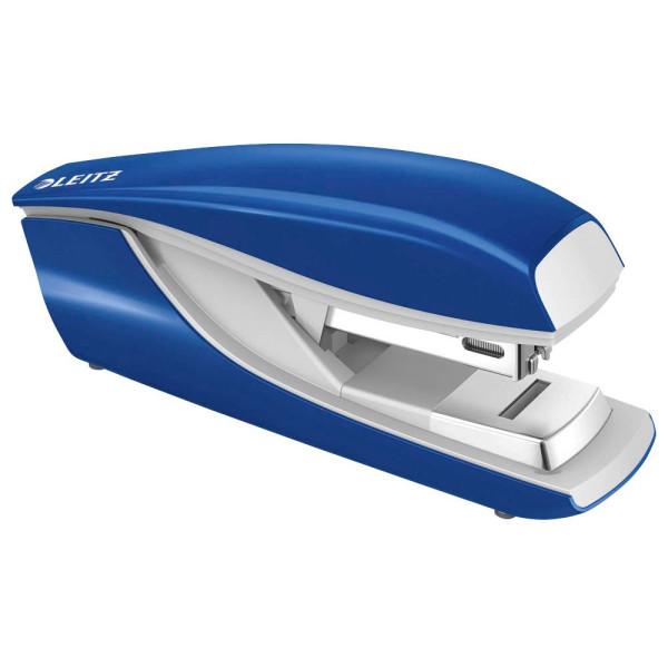 Leitz Heftgerät 5505 Flat Clinch blau bis 30 Blatt für 24/6 + 26/6