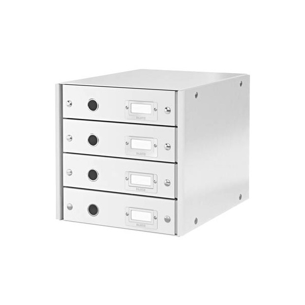 Leitz Schubladenbox Click&Store 6049-00-01 weiß/weiß 4 Schubladen geschlossen