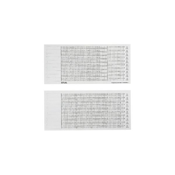 Leitz Organisationsstreifen Skala1+2 weiß 317mm lang 100 Stück