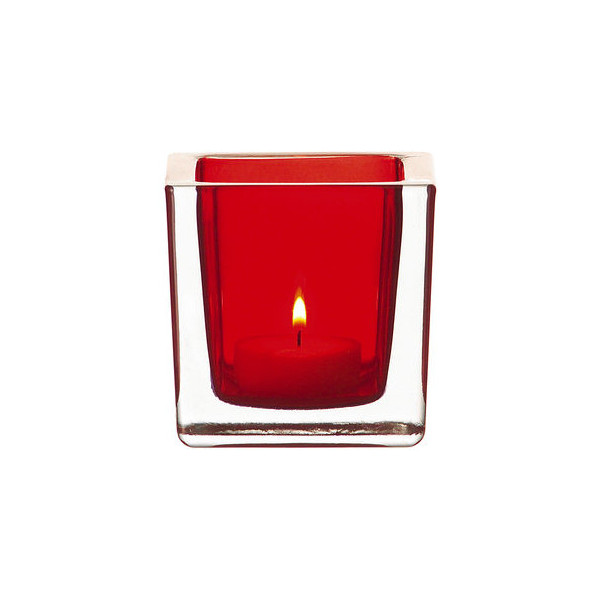 Leonardo Teelichthalter quadratisch rot 8cm