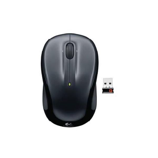 Logitech Wireless Mouse M325,5 Tasten Scrollrad silber USB kabellos