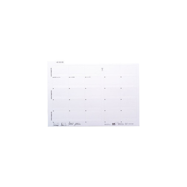 Mappei Selbstklebereiter weiß 55mm breit 100 Stück