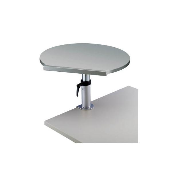 Maul Tischpult ergonomisch m.Klemme grau 600x520mm teleskop