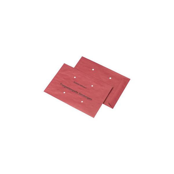 MailMedia Freistempler B4 ohne Fenster nassklebend 4 Löcher 90g rot 500 Stück 026367