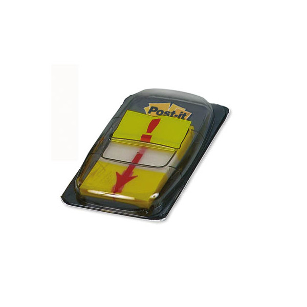 Post-it Index Haftstreifen 680 Symbol Ausrufezeichen 25,4 x 43,2mm gelb 50 Blatt