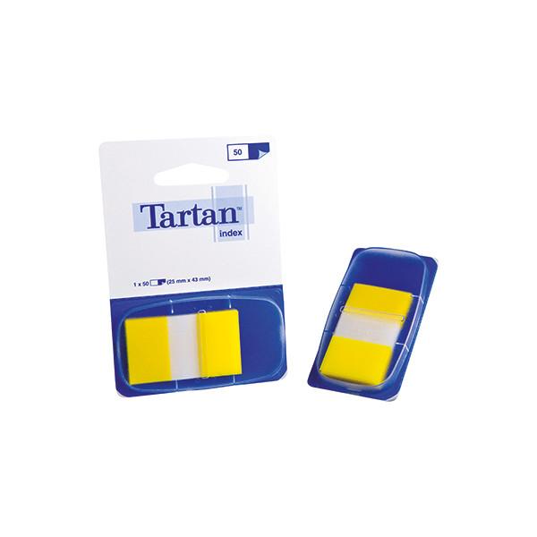 Tartan Index Haftstreifen gelb 25x43mm 50 St