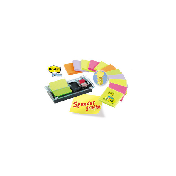 Post-it Z-Notes 12-farb. m.1 Index 680 Spend. DS100 gratis