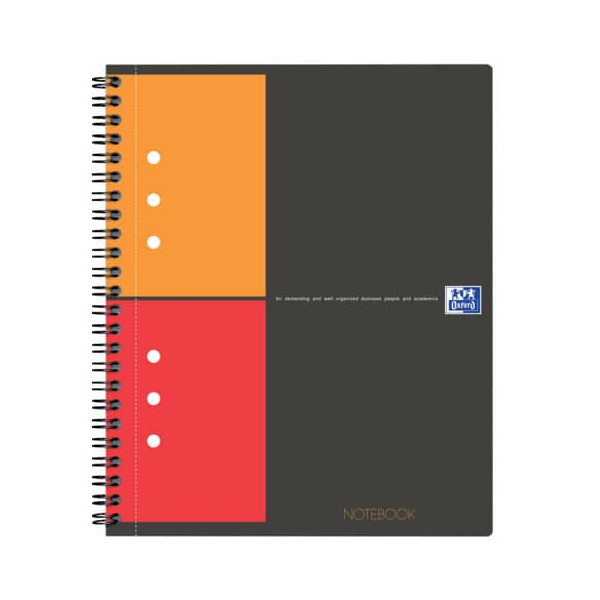 Oxford Notebook 12fa gel kariert SW/OR/RO A5+ 80 Bl