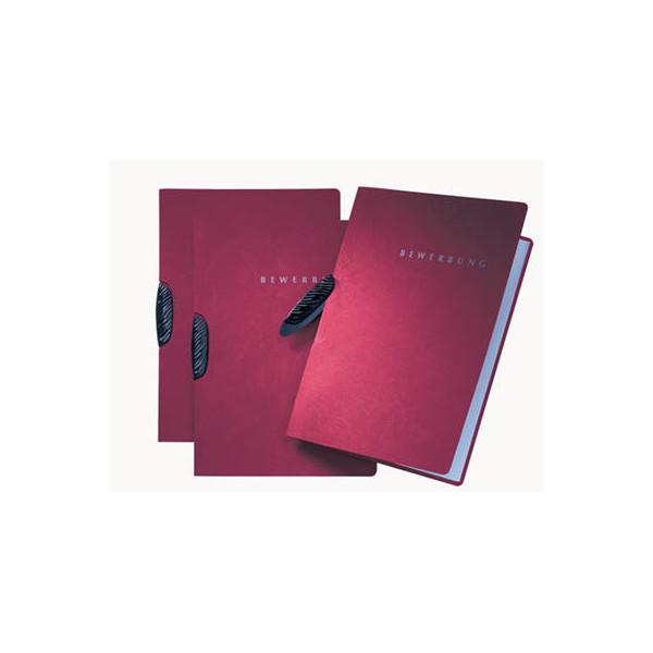 Pagna Bewerbungsmappe 22004 Basic Swing mit Clip A4 bis 15 Blatt rot