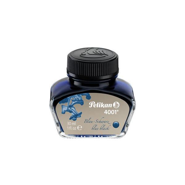 (8,00 EUR/100 ml) Pelikan Füllertinte 4001 blau/schwarz 30ml Glas