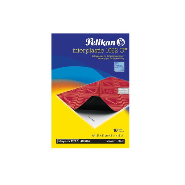 Pelikan Kohlepapier Interplastik 1022G schwarz A4 10 Blatt
