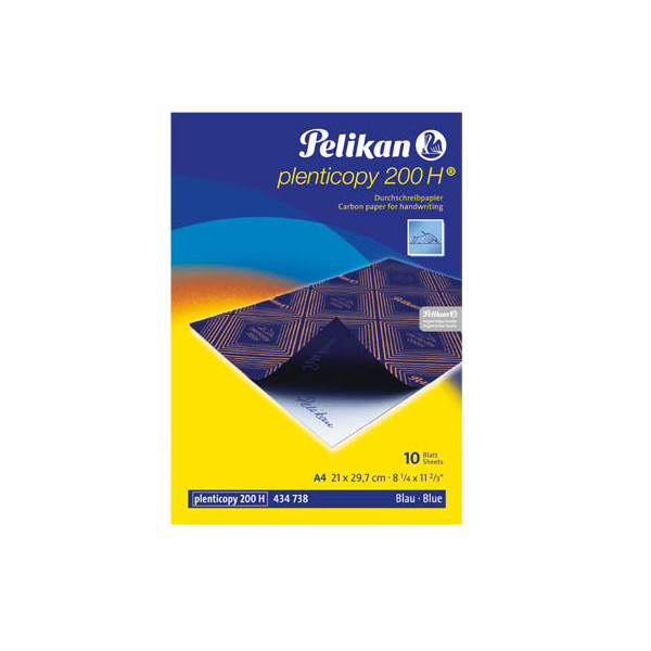 Pelikan Durchschreibepapier A4 blau Plenticopy 10 Blatt