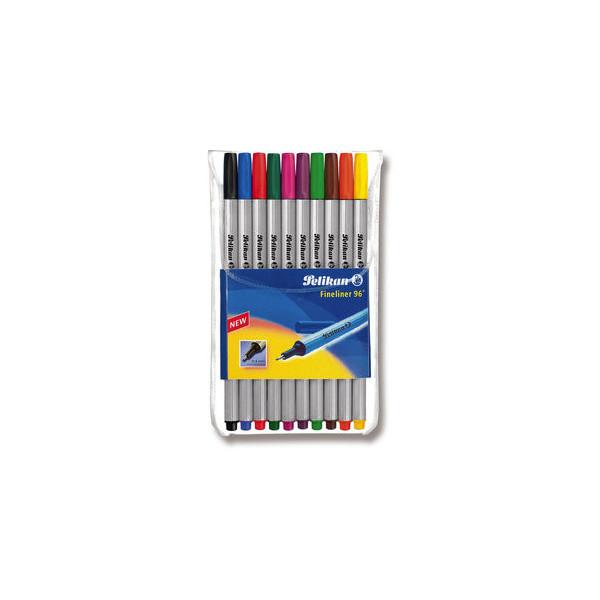Pelikan Fineliner 96 0,4mm 10 Farben sortiert 10erEtui