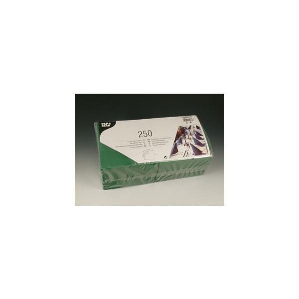 Papstar Serviette 3-lagig 1/4-Falz dunkelgrün 33x33cm 51g 250 Stück