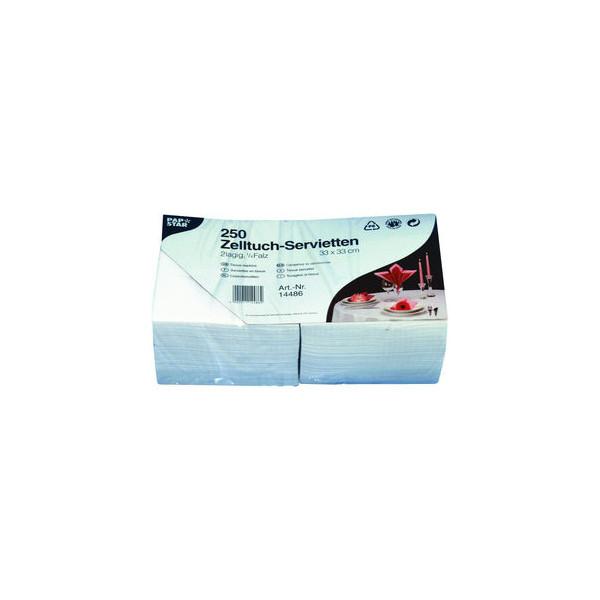 Papstar Servietten 2-lagig 1/4 Falz Tissue weiß 250 Stück