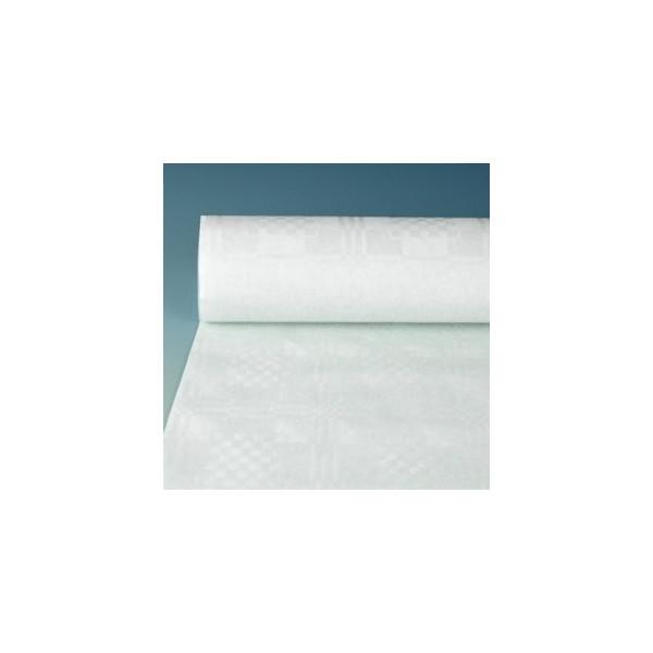 (0,20 EUR/1 m) Papstar Damasttischtuch Papier 40g weiß 1,2m x 50m 2,4kg