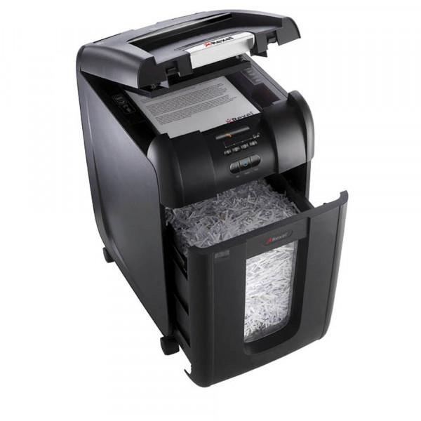 Rexel Aktenvernichter Auto+ 300X schwarz Partikelschnitt 4x 40mm bis 250 Blatt